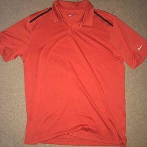 Mens Orange NIke Golf shirt size L
